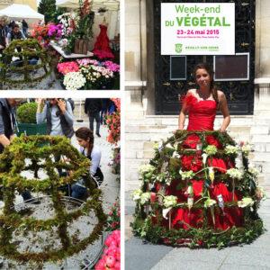 Robe à fleurs Végétal - Animation Neuilly sur Seine