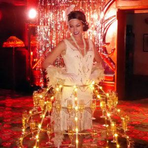 Lady Champagne chez Maxim's de Paris