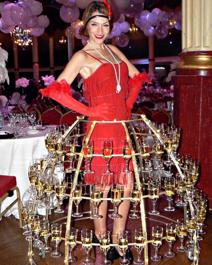 robe à champagne, soirée thème Années 20