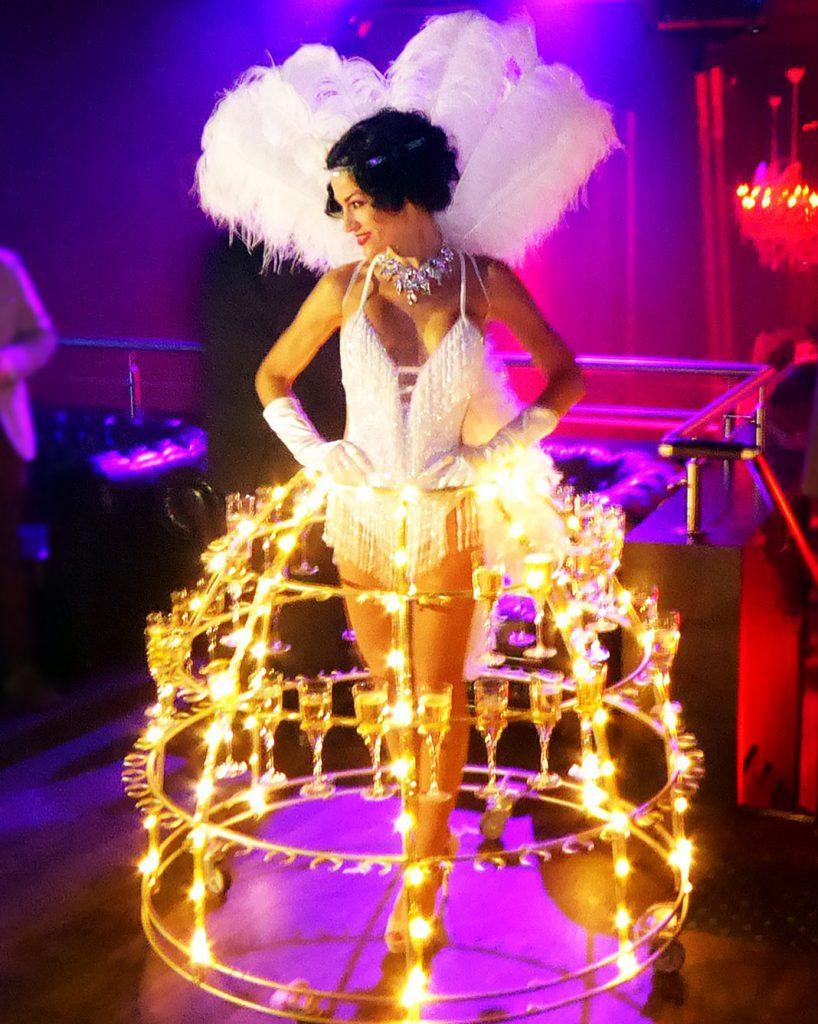 robe à champagne, soirée Gatsby Le magnifique