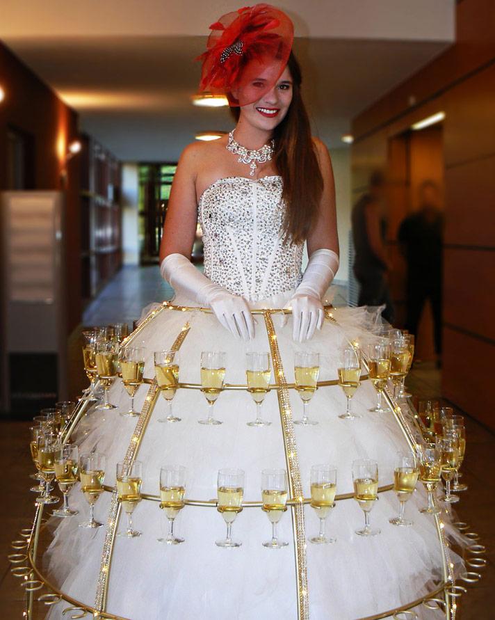 robe à champagne, robe porte coupe de champagne