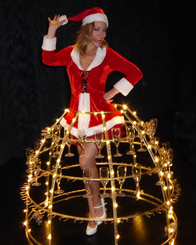 robe à champagne, soirée thème Noël