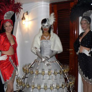 animation champagne theme Las Vegas