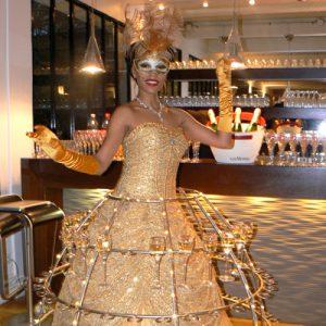 robe champagne accueil evenementiel