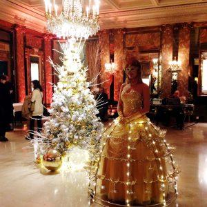 Dame Champagne animation Noel