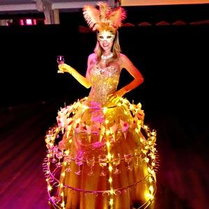 Robe à champagne à LED