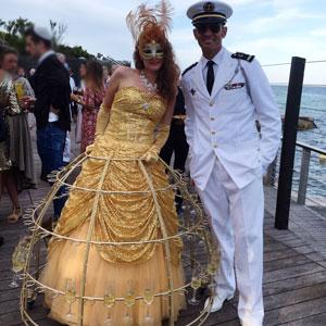 Animation originale mariage vin d'honneur accueil champagne