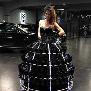 animation événement robe-champagne-tenue Noir