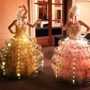 animation événement robe porte flute champagne marquise