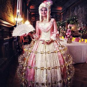 robe-champag theme-Marie-Antoinette animation événement