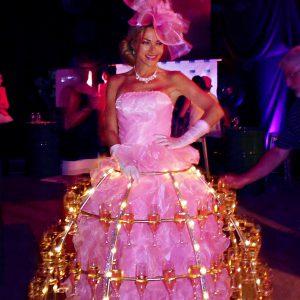 """robe à champagne pour les 60 ans de l'entreprise """"Metral Passy"""""""