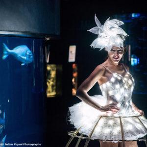 Robe champagne led PANERAI aquarium de Paris